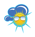 sun and clouds art vector image
