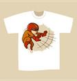 t-shirt print design superhero vector image vector image