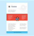 template layout for cart setting comany profile vector image vector image