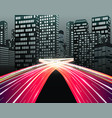 traffic of night city vector image
