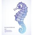 Tribal Seahorse vector image vector image