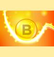 vitamin b gold shining pill capcule icon vitamin vector image