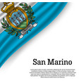 waving flag of san marino vector image
