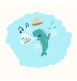 Whale in the shower vector image