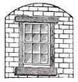 window decorative glazing pattern vintage vector image vector image