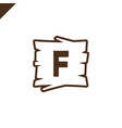 wooden alphabet or font blocks with letter f in vector image vector image