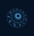 zodiac icon vector image vector image