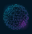 basic geometry colorful vector image