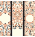 Beautiful ethinic ornamental banner set vector image