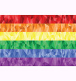 Gay and Lesbian rainbow flag in poly art vector image