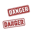 Realistic grunge textured Danger stamp isolated vector image