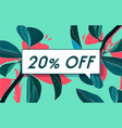 20 off in design banner template for web vector image