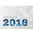 2018 new year abstract numbers with snowflakes vector image vector image