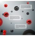 Abstract 3d spheres infographics vector image vector image