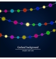 Abstract bright lights background Christmas vector image