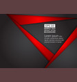 abstract geometric black and red color technology vector image vector image