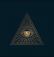 all seeing eye illuminati symbol in vector image vector image