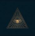 all seeing eye illuminati symbol vector image vector image