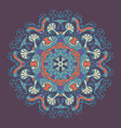 ancient geometric mandala vector image
