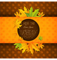 autumn floral sale template vector image vector image