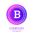 b letter logo design b icon colorful and modern vector image vector image