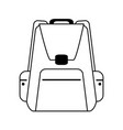backpack with outside pockets icon image vector image