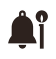 Bell and candle vector image vector image