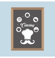 catering service restaurant meal blackboard vector image