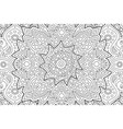 coloring book page with decorative linear pattern vector image vector image
