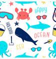 cute animals seamless pattern print design vector image vector image