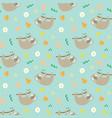 cute sloth seamless pattern cartoon hand drawn vector image vector image