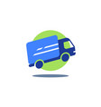 delivery truck fast courier services vector image