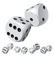 dice rolls vector image vector image