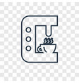 drip concept linear icon isolated on transparent vector image