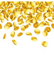 explosion of gold coins with place for text on vector image vector image