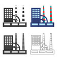 factory icon of for web and vector image
