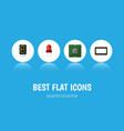 flat icon device set of unit display recipient vector image vector image
