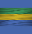 gabon flag flag of gabon blowig in the wind eps vector image vector image