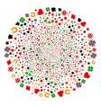 gambling swirl globula vector image