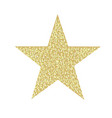 glitter golden star isolated vector image