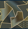 gold geometric seamless pattern vector image vector image
