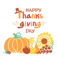 happy thanksgiving day card beautiful vector image