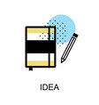idea book graphic icon vector image