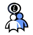 info icon vector image vector image