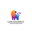 lion full color design concept template vector image