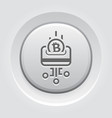load card with bitcoin button icon vector image
