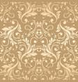 luxury golden damask wallpaper vector image vector image