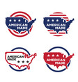 made in america label set 03 vector image vector image