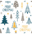 merry christmas seamless pattern with simple minim vector image vector image