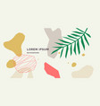 modern collage geometric shapes and tropical vector image vector image